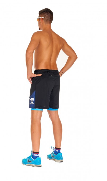 "Short Mixte ""Ultra-Trail"" Jambes Longues."