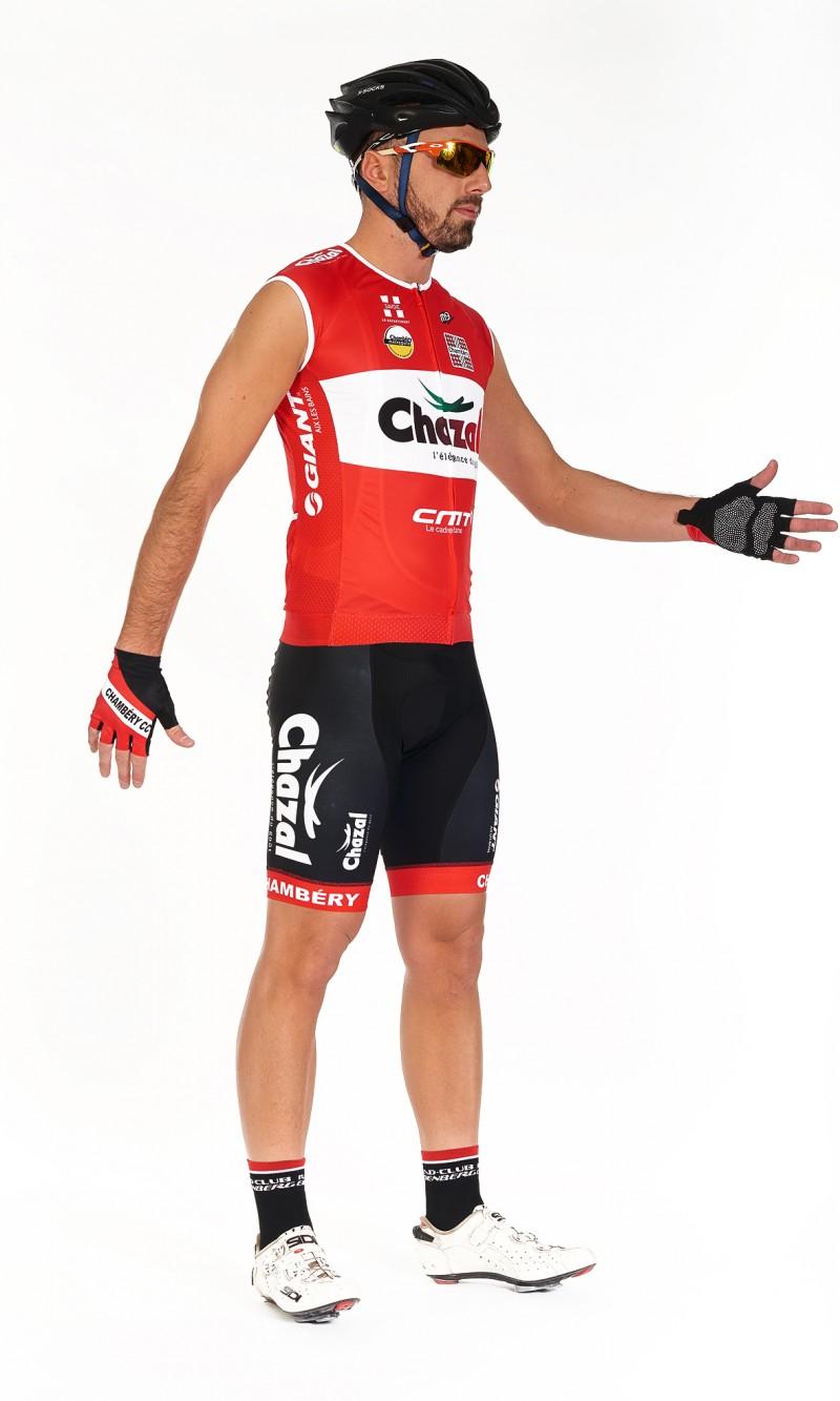 Maillot cycliste personnalisé sans manche