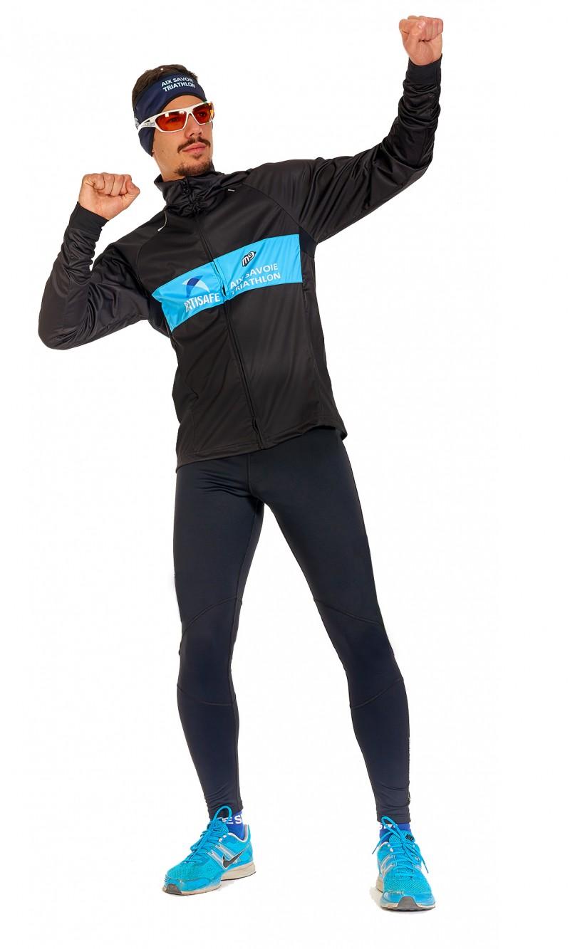 Collant long Homme Running personnalisé club
