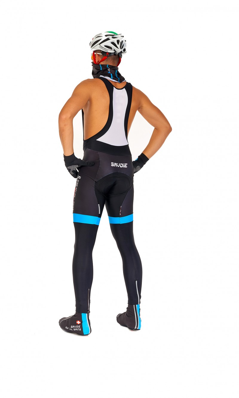 Collant long Homme à bretelles personnalisé club Cyclotourisme fond longue distance