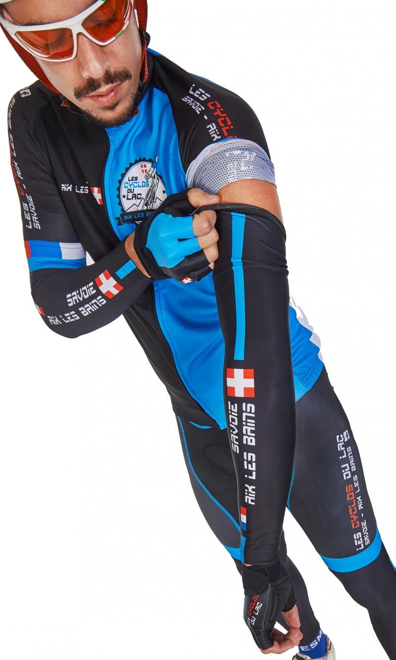 Manchettes Mixte Cyclisme personnalisée club sublimation