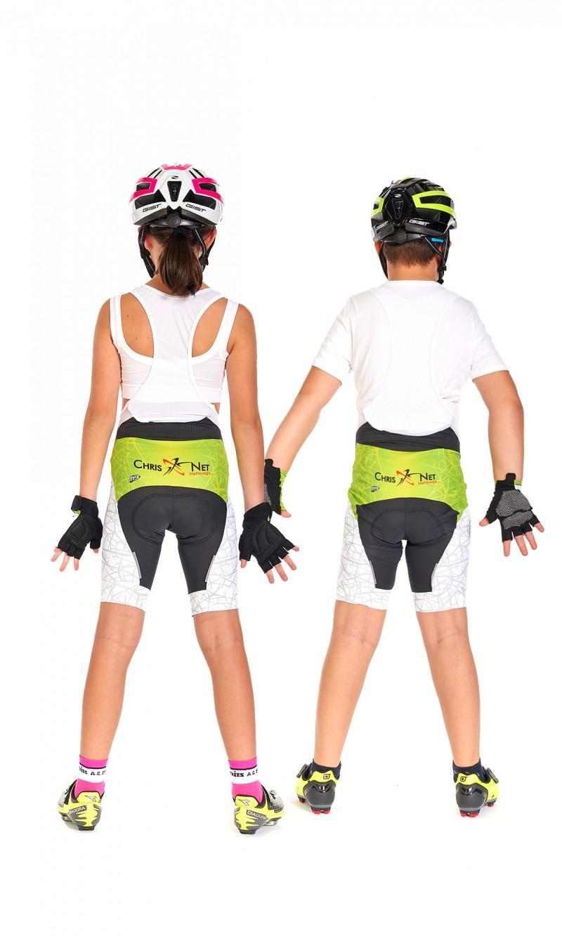 Cuissard à bretelles Mixte Enfant Cyclisme personnalisé club