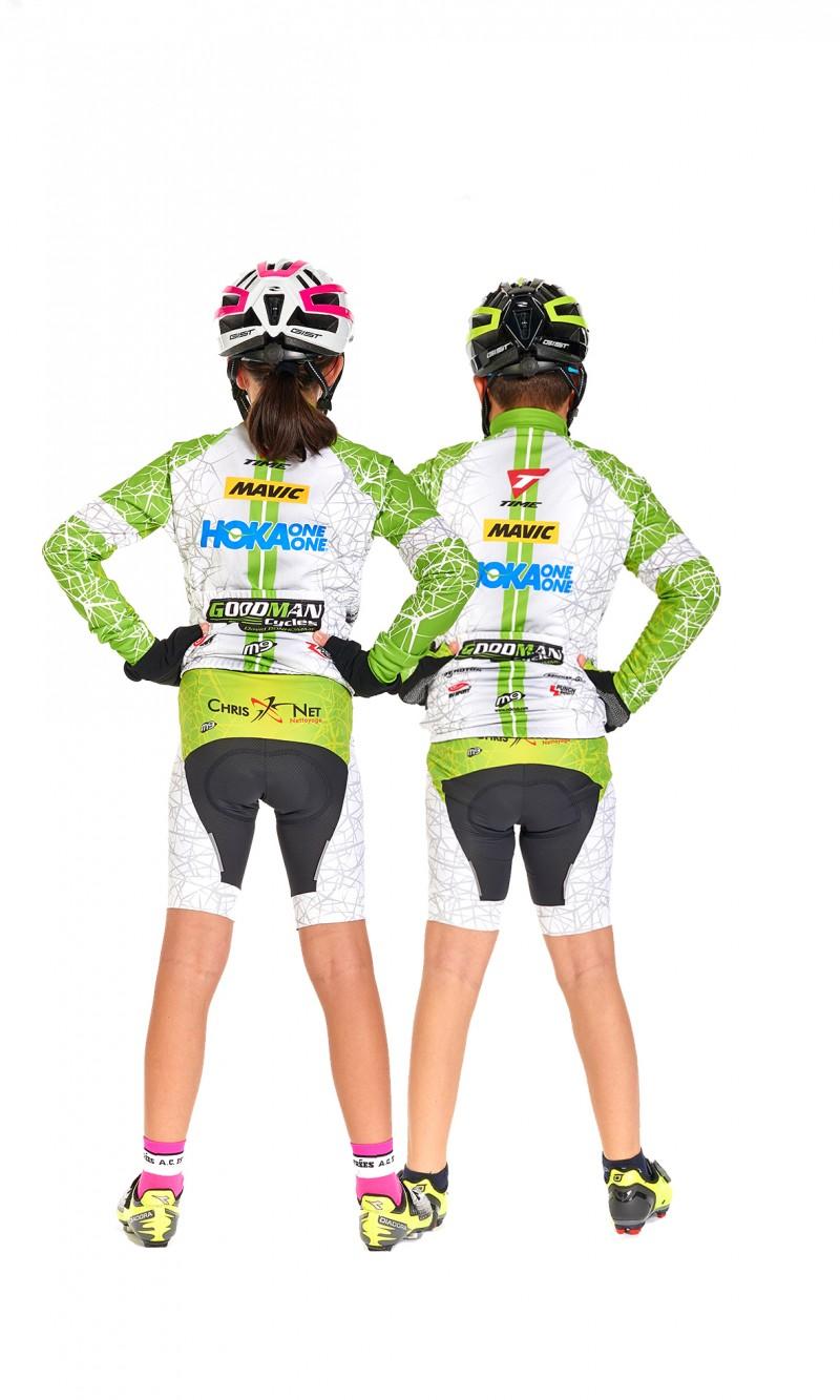 Maillot ML Mixte Enfant Cyclisme personnalisé