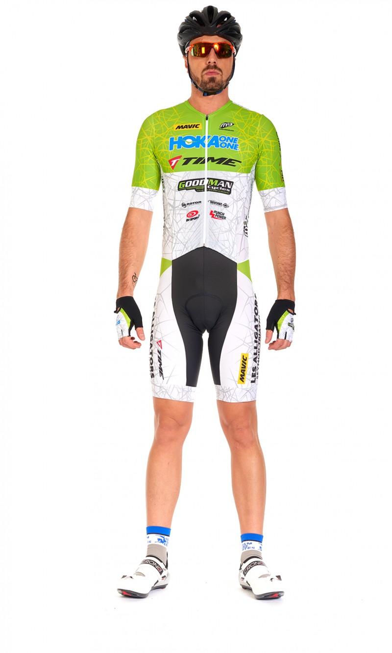 Combinaison MC Mixte Triathlon Longue distance gilet ouvrable personnalisée