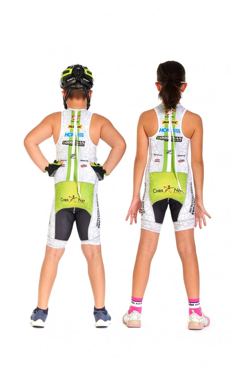 Combinaison Mixte Enfant de Triathlon personnalisée club