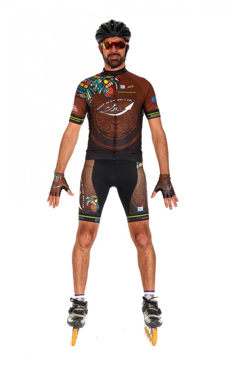 maillot homme compétition manches courtes Roller personnalisé club
